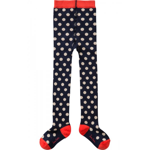 MORNING MAILLOT TIGHTS BLUW W/BEIGE DOTS