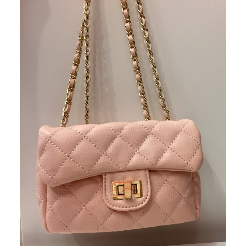 9bb96923c983e1 GIRL'S MEDIUM CHANEL STYLE QUILTED BAG ***PINK, BLACK***
