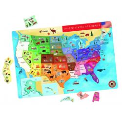 Janod - Magnetic us map puzzle janod