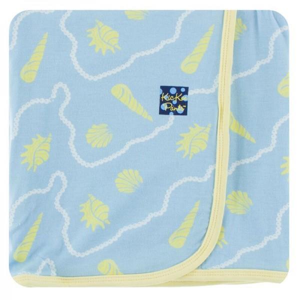 Print Swaddling Blanket in Pond Shells