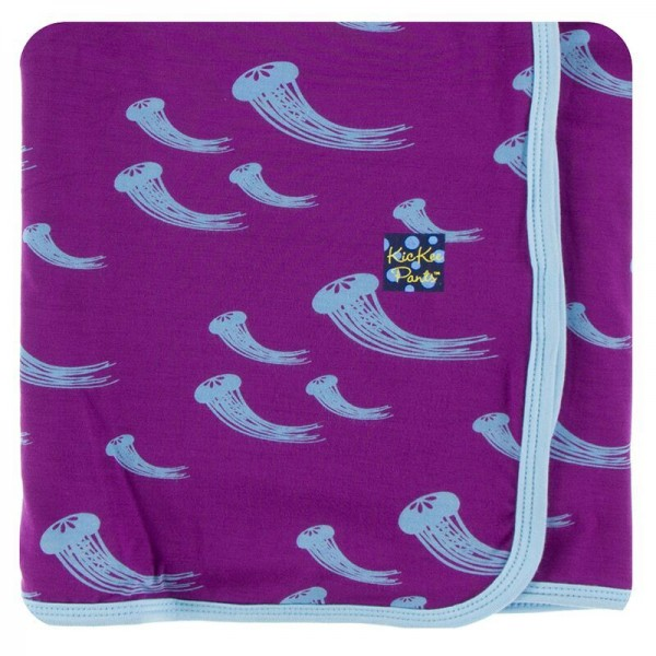 Print Swaddling Blanket in Starfish Jellies