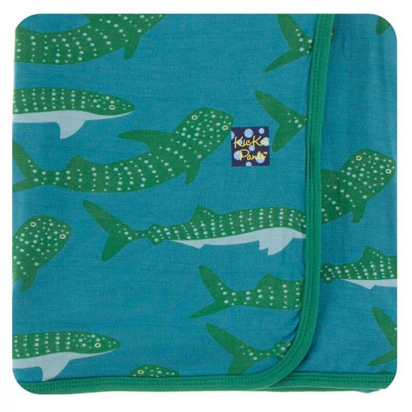 Print Swaddling Blanket in Seagrass Whale Shark