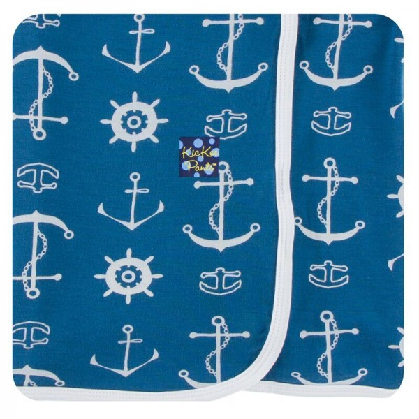 Print Swaddling Blanket in Twilight Anchor