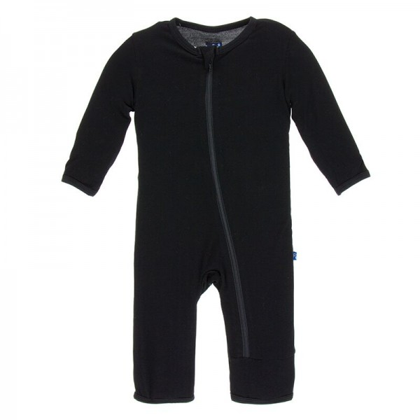 Solid Coverall with Zipper in Midnight