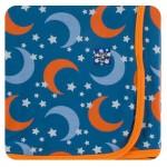 Kimono Newborn Gift Set with Elephant Box in Twilight Moon and Stars