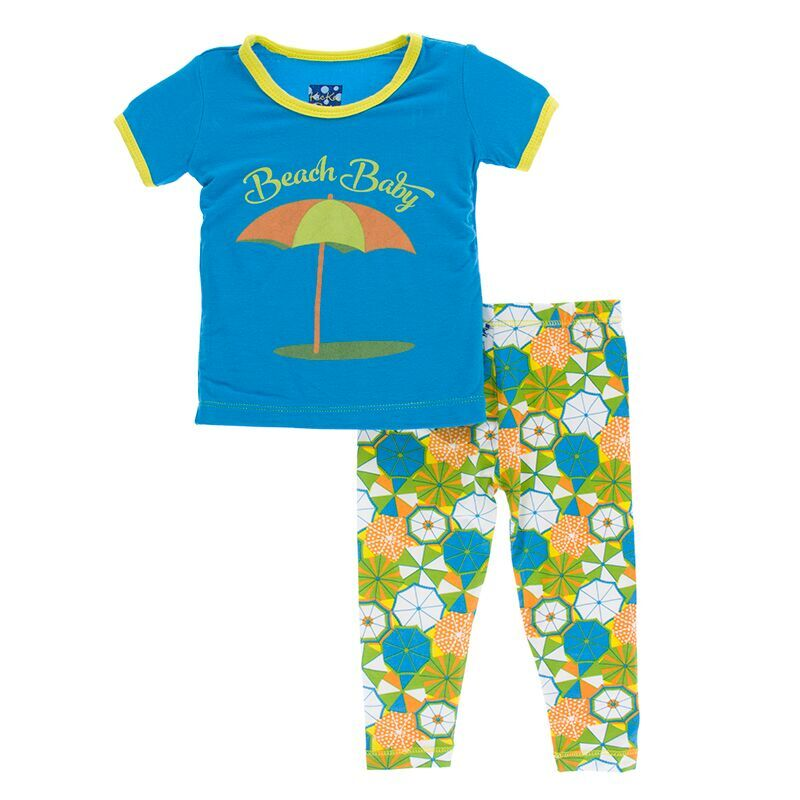 396234fbb Kickee Pants Print Short Sleeve Pajama Set in Beach Umbrellas ...