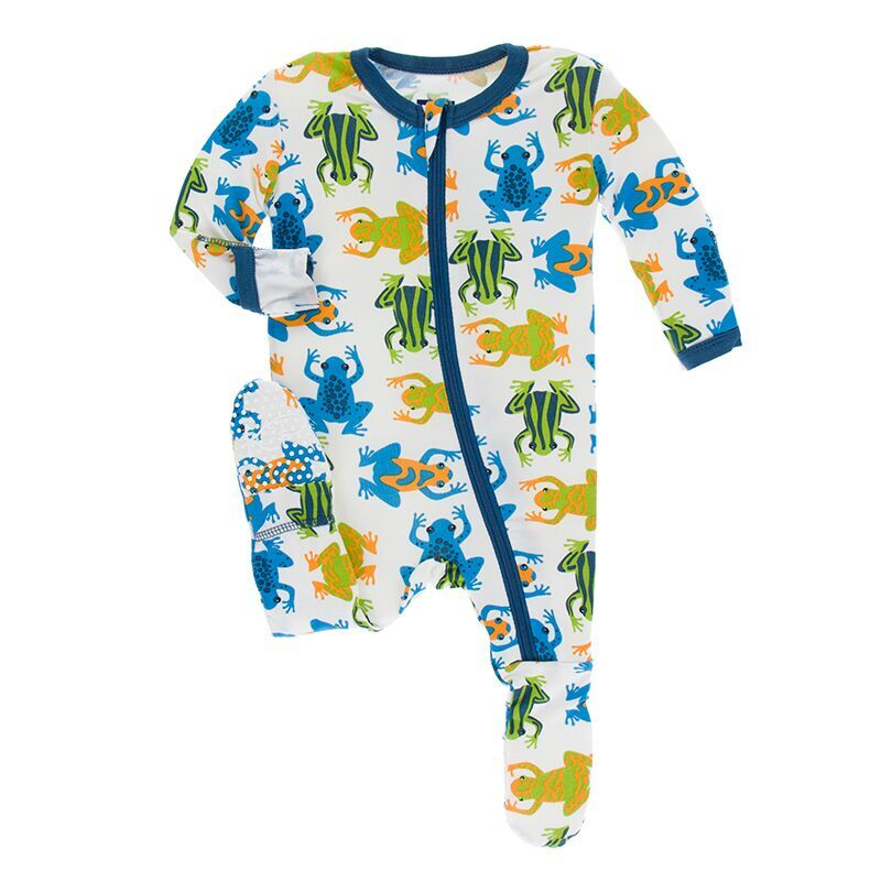 a68504bb724f Kickee Pants Print Footie with Zipper in Amazon Frog