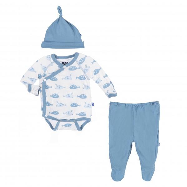 Kimono NewBorn Gift Set in Boy Cowfish