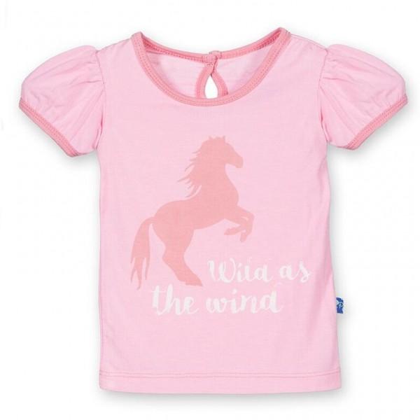 Short Sleeve Applique Puff Tee in Desert Rose Wild Horses