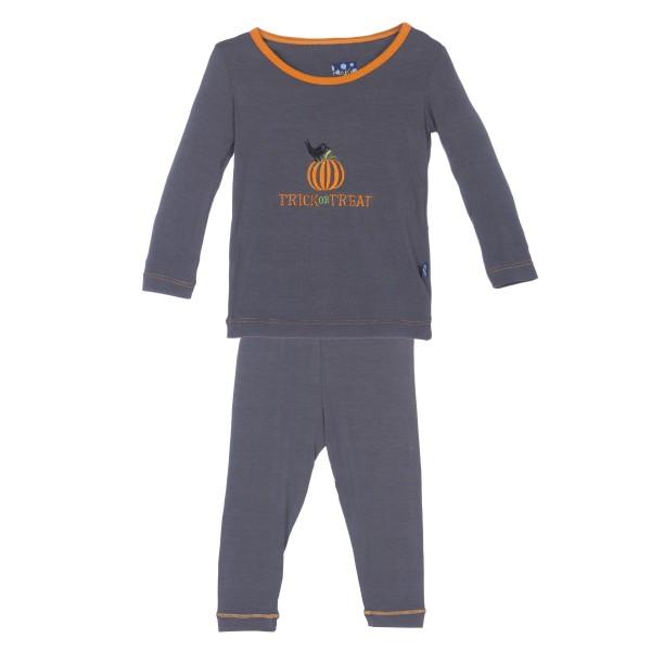Holiday Long Sleeve Appliqué Pajama Set
