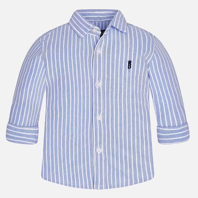 6765bd559900 Mayoral Baby Boy Long Sleeve Cotton Piqué Shirt