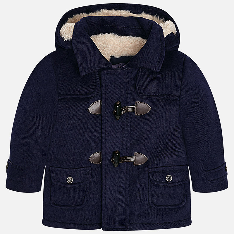 Mayoral Baby Boy Faux Fur Lined Duffle Coat Yogaso Boutique