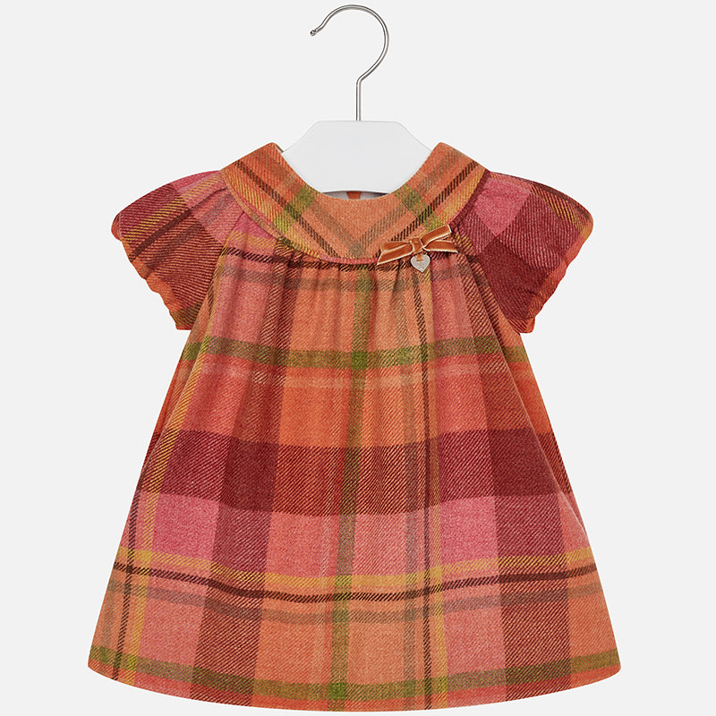 c0513cc9a036 Mayoral Baby Girl Flannel Checkered Short Sleeve Dress