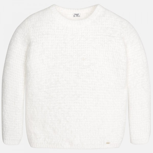 Girls Ivory Knitted Sweater