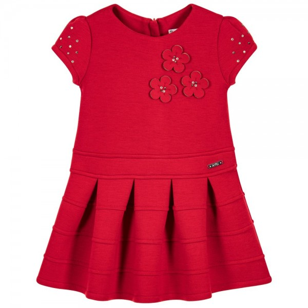 Girls Red Jersey Dress