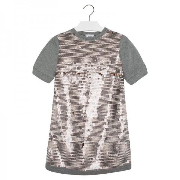 Grey Sequins Dress