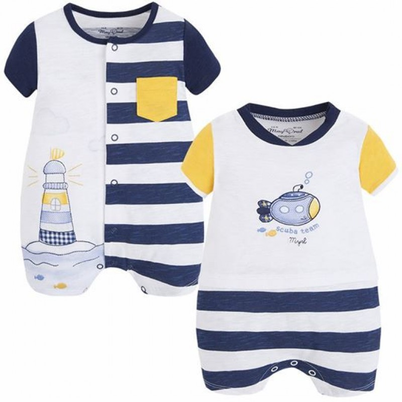 0169f92e9d79 Yogaso Boutique  Nautical Baby Boy Romper Set (Pack of 2) by Mayoral ...
