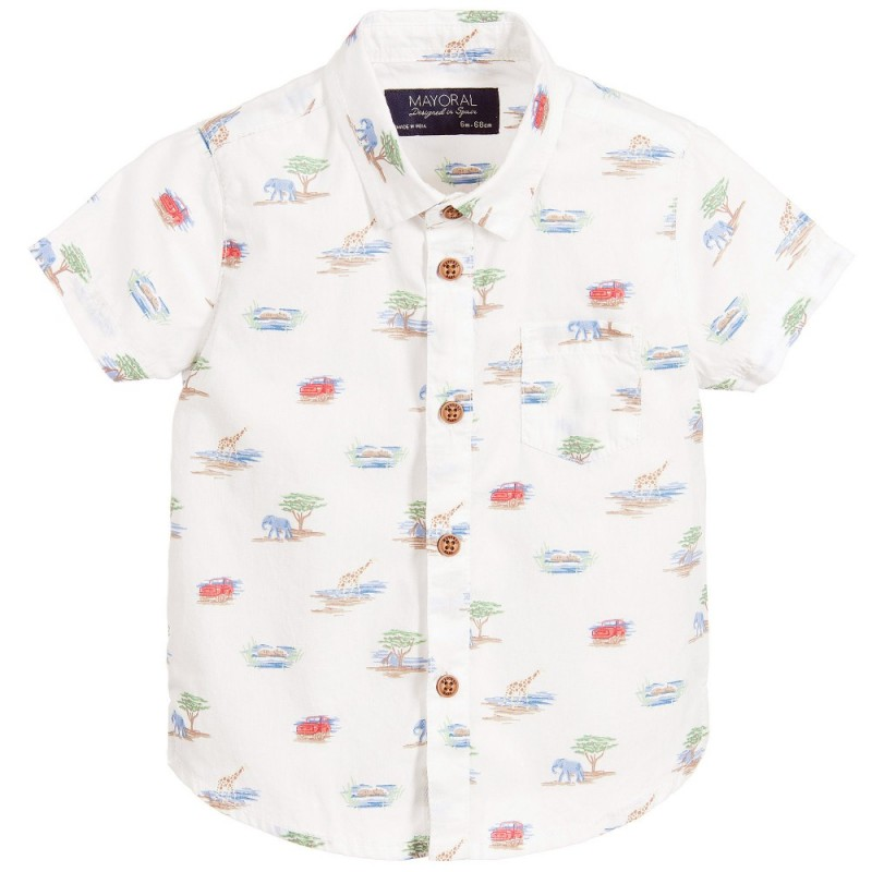 e9a04c6ca Baby Boys Safari Print Layered Shirt | Yogaso Boutique