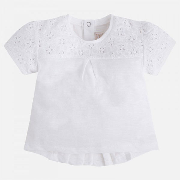 Baby Girl short sleeve t-shirt with pleated Back