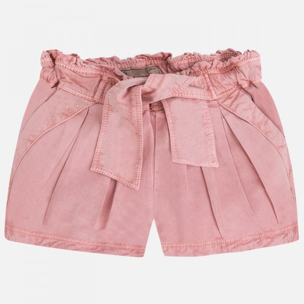 Girl Shorts with Bow and Elastic Waist