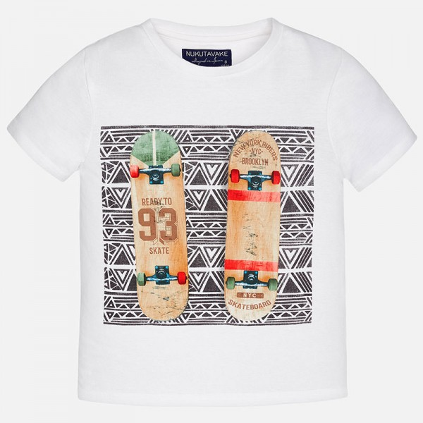 Boy Short Sleeve T-shirt Skate Print