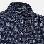 Nukutavake Boy Navy Blue Short Sleeve Print Shirt