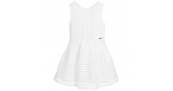 Girls White Lace Dress