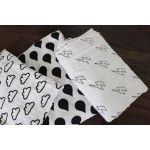 Organic Cotton Muslin Swaddle Blanket - Lightning Bolts