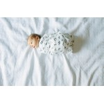 Organic Cotton Muslin Swaddle Blanket - Letters