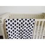 Organic Cotton Muslin Swaddle Blanket - Raindrops