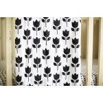 Organic Cotton Muslin Swaddle Blanket - Tulips