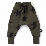 Star Baggy Pants - Olive
