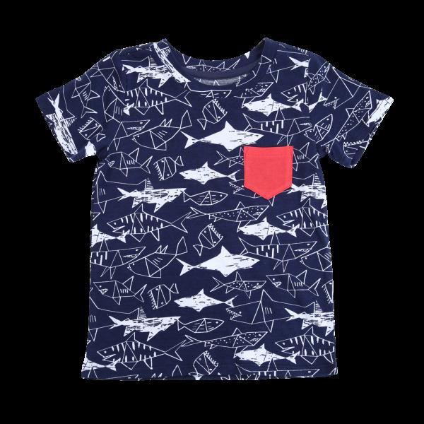Shark Print Graphic Tee