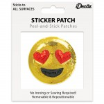 Emoji Heart Eyes Sequin Sticker Patch 2 inch