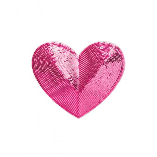 Heart Sequin Sticker Patch 2 inch