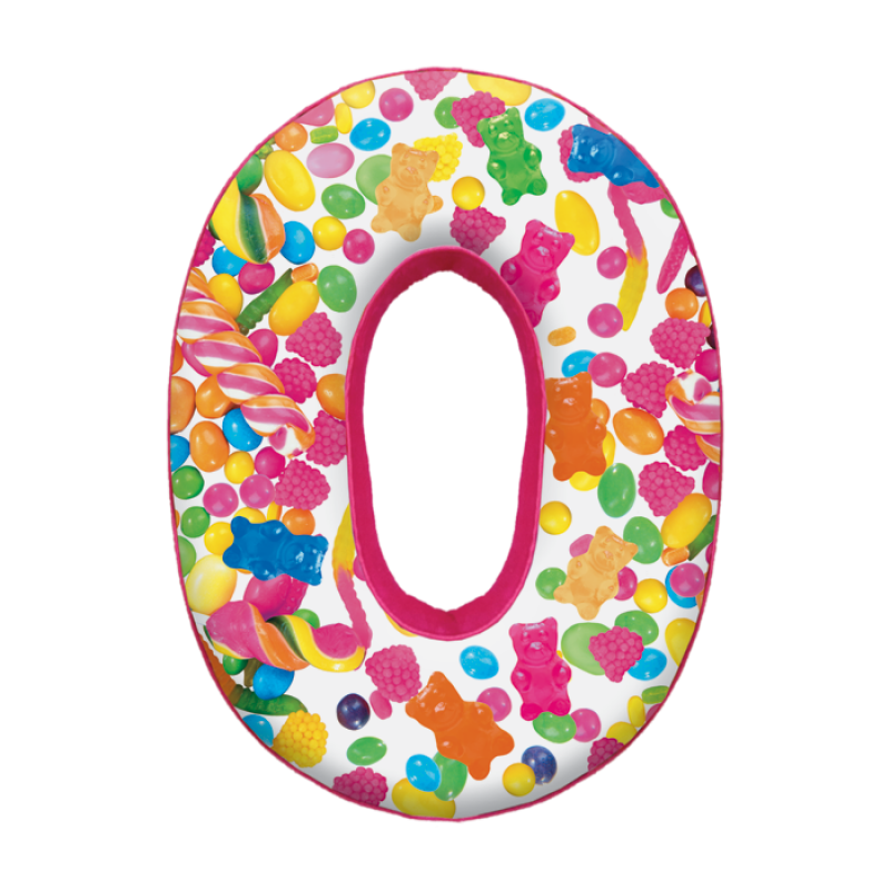 IScream Letter O Initial Microbead Pillow