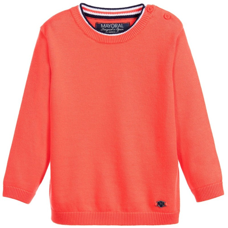 b73edf322c5e Mayoral Coral Red Knitted Sweater