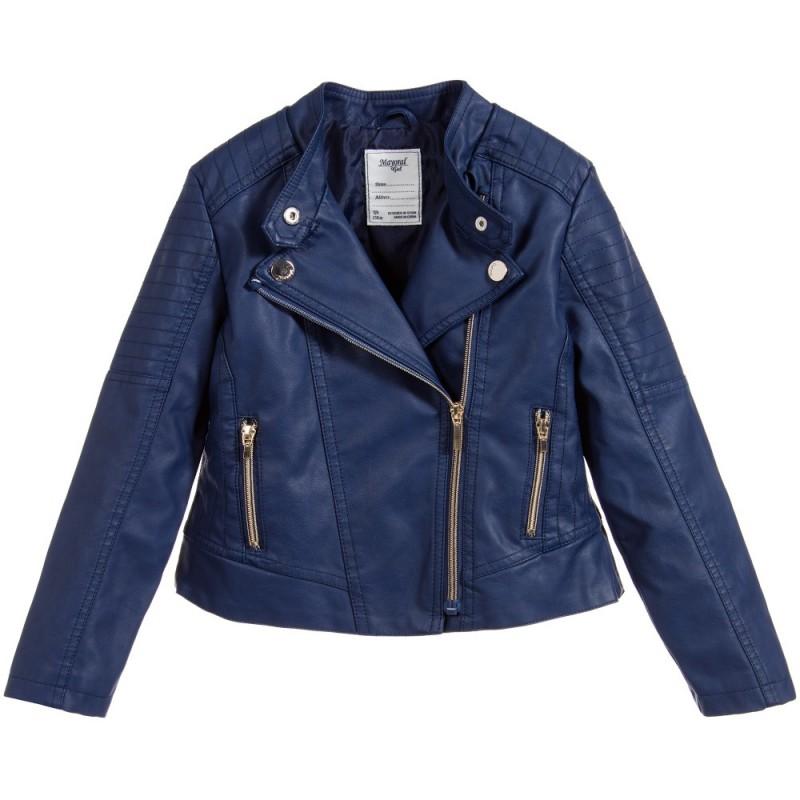 636347299 Mayoral Leather jacket Navy | Yogaso Boutique