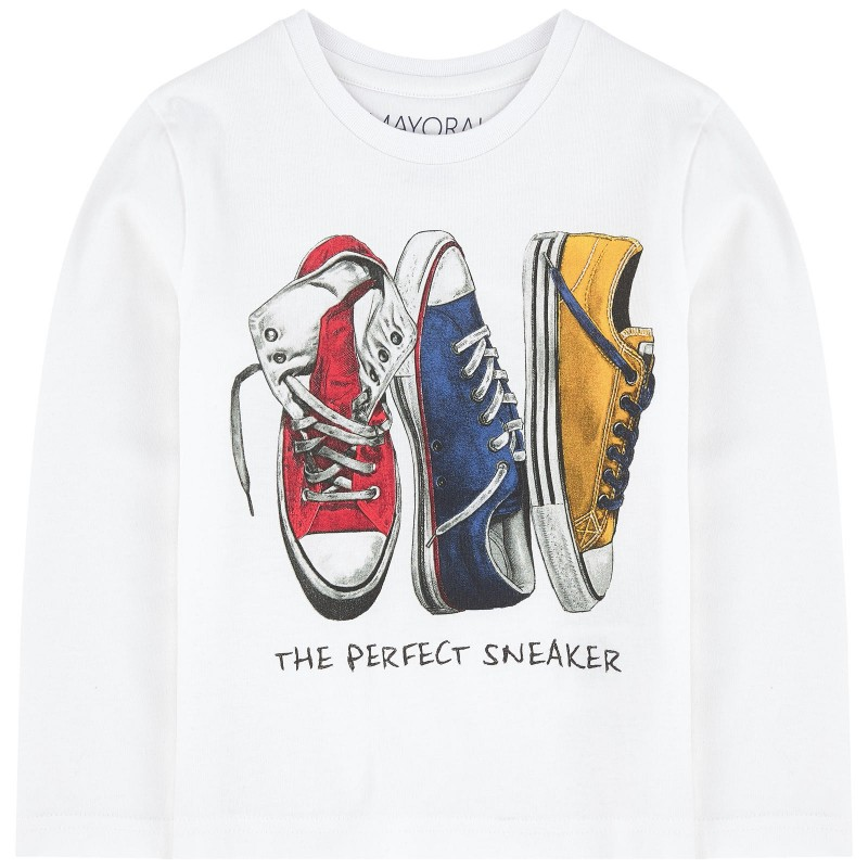 43f46754001b Mayoral Converse Sneakers Printed Long Sleeve T-Shirt