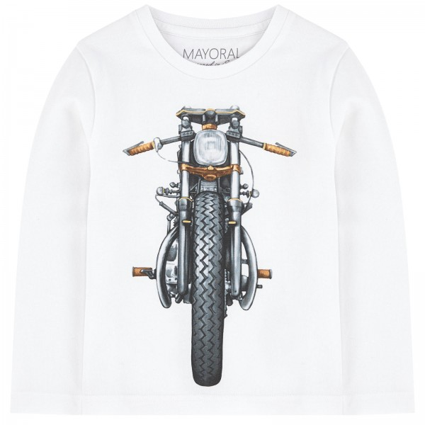 Bike Print Long Sleeve T-Shirt