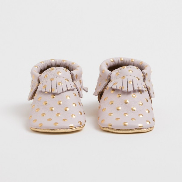 Freshly Picked Moccasins - Heirloom in Blush and Gold