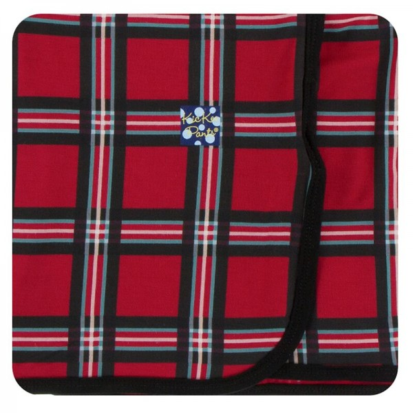 Holiday Print Swaddling Blanket in Christmas Plaid 2019