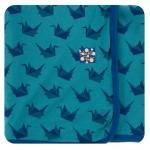Kimono Newborn Gift Set with Elephant Box in Seagrass Origami Crane