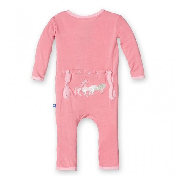 Fitted Applique Coverall in Desert Rose Horses