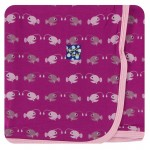 Print Footie with Zipper in Orchid Angler Fish