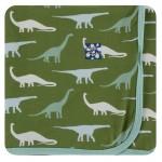 Kimono Newborn Gift Set with Elephant Box in Moss Sauropods