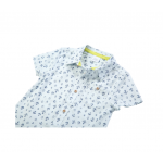 Anchor Print Poplin Short Sleeve Dress Shirt